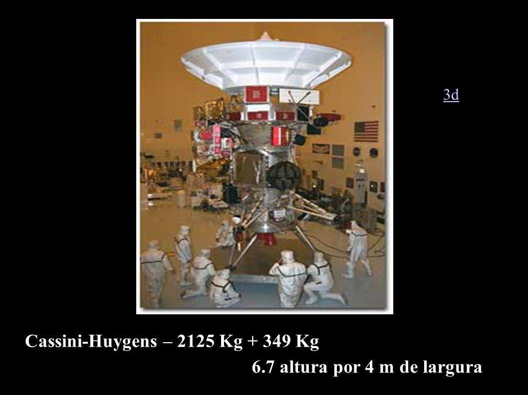 Cassini-Huygens – 2125 Kg + 349 Kg 6.7 altura por 4 m de largura 3d