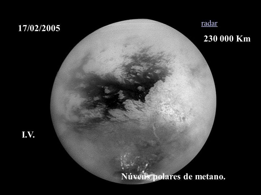 17/02/2005 Núvens polares de metano. radar I.V. 230 000 Km