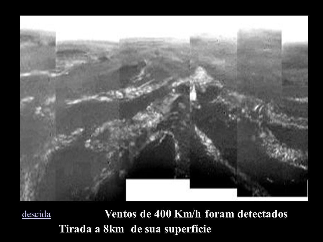 Tirada a 8km de sua superfície Ventos de 400 Km/h foram detectados descida