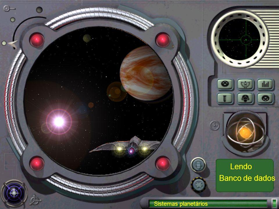 Sistemas planetários Banco de dados Lendo