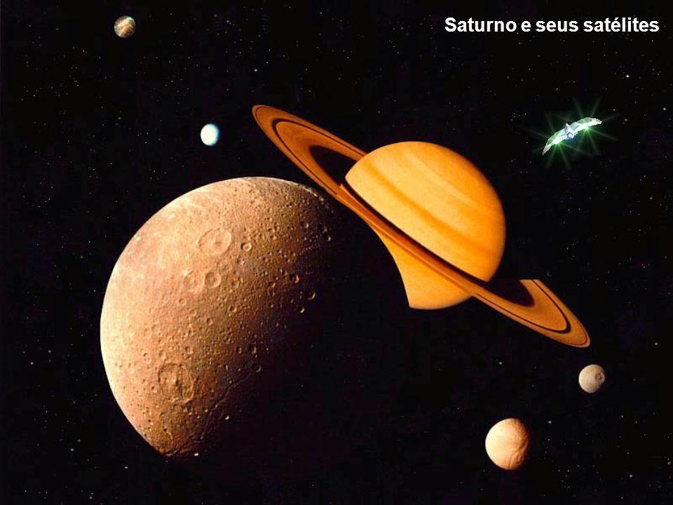 Saturno e seus satélites