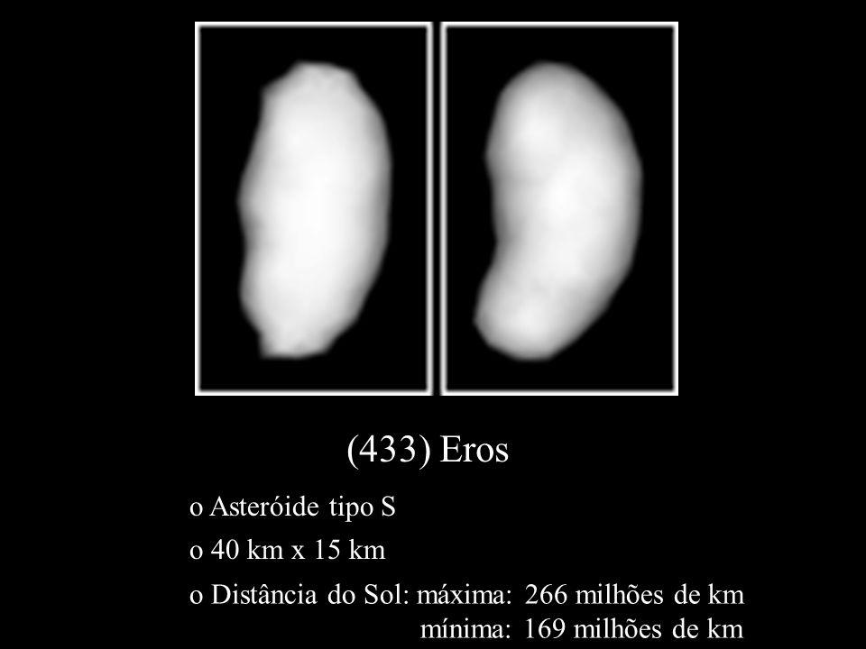 o 40 km x 15 km o Asteróide tipo S o Distância do Sol: máxima: 266 milhões de km mínima: 169 milhões de km
