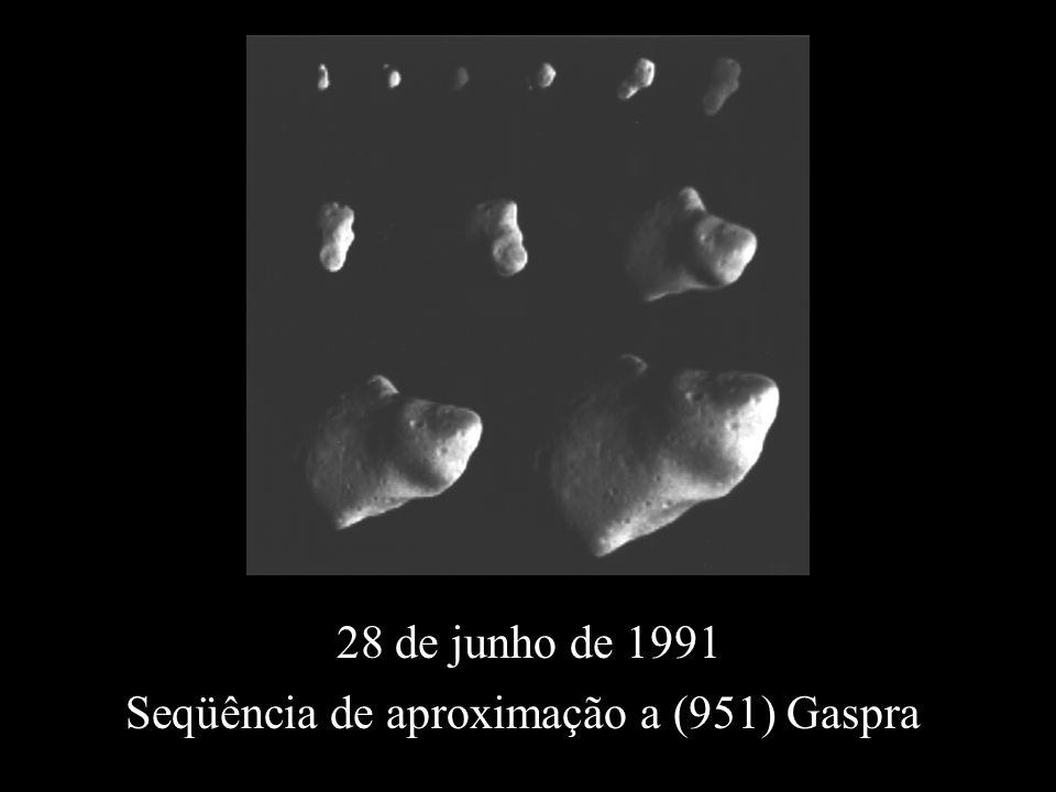 Seqüência de aproximação a (951) Gaspra 28 de junho de 1991