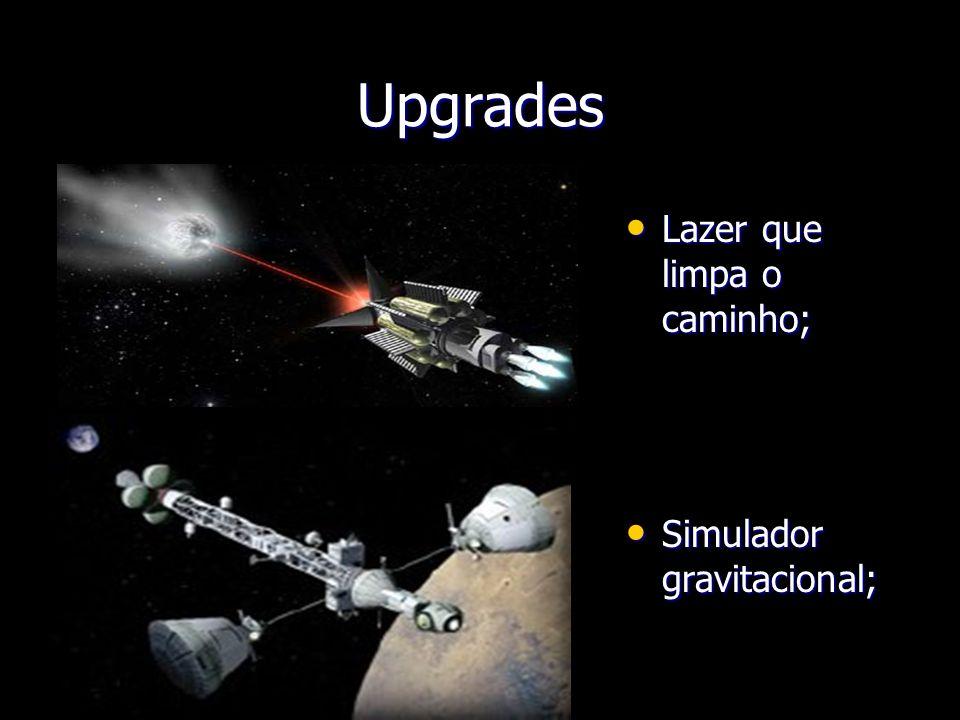 Upgrades Lazer que limpa o caminho; Lazer que limpa o caminho; Simulador gravitacional; Simulador gravitacional;