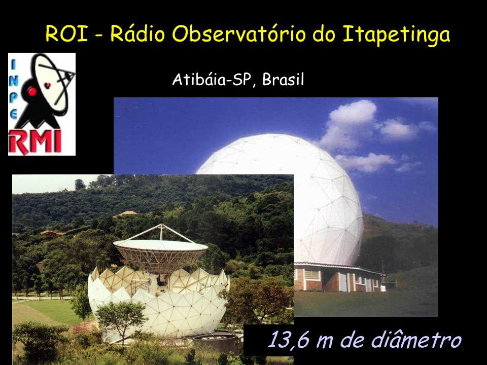 ROI - Rádio Observatório do Itapetinga Atibáia-SP, Brasil 13,6 m de diâmetro