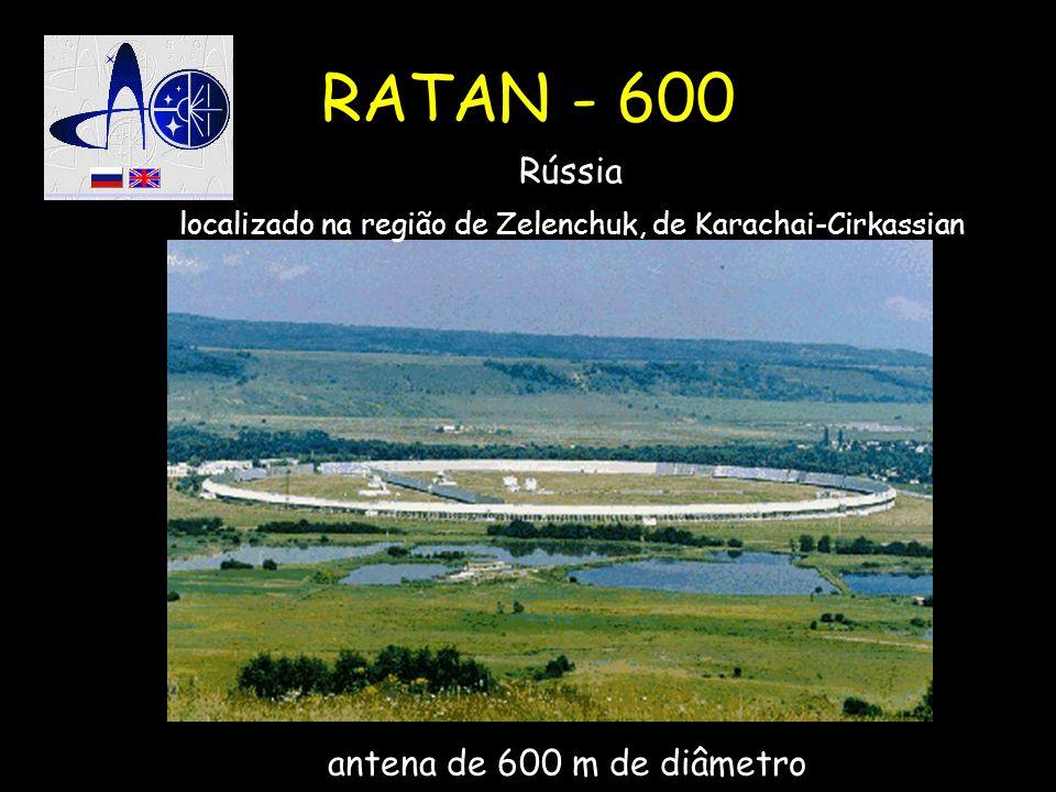RATAN - 600 Rússia localizado na região de Zelenchuk, de Karachai-Cirkassian antena de 600 m de diâmetro