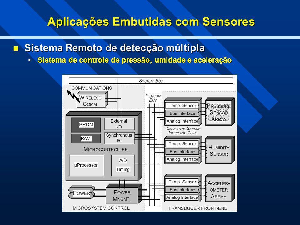 Aplicações Embutidas com Sensores Sistema Remoto de detecção múltipla Sistema Remoto de detecção múltipla Sistema de controle de pressão, umidade e ac