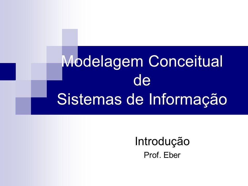 Modelagem Conceitual de Sistemas de Informação Introdução Prof. Eber