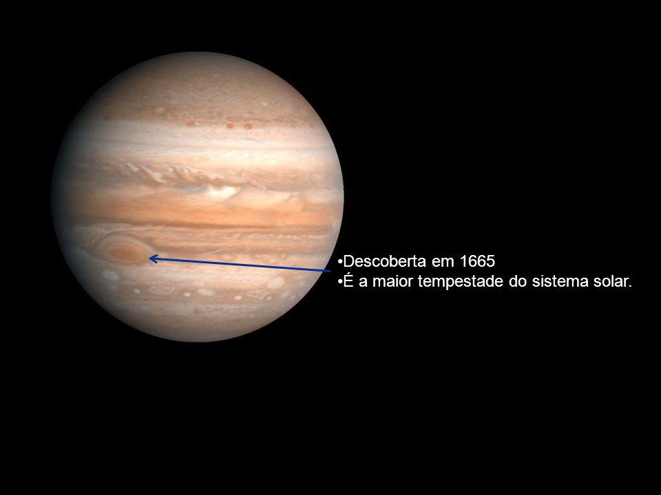 Descoberta em 1665 É a maior tempestade do sistema solar.