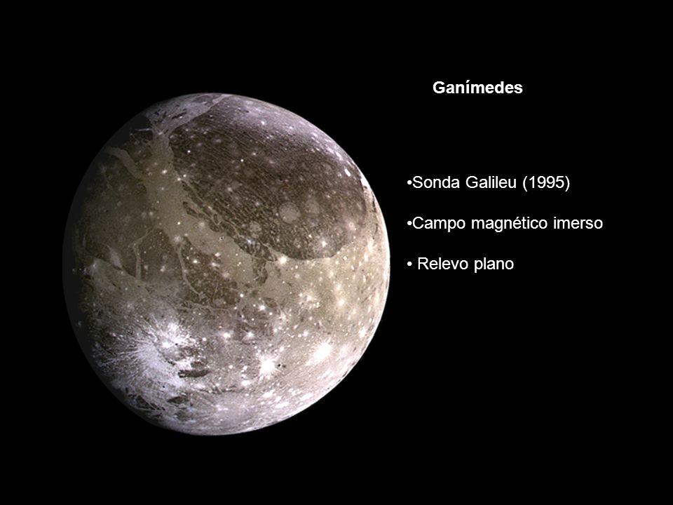 Sonda Galileu (1995) Campo magnético imerso Relevo plano Ganímedes
