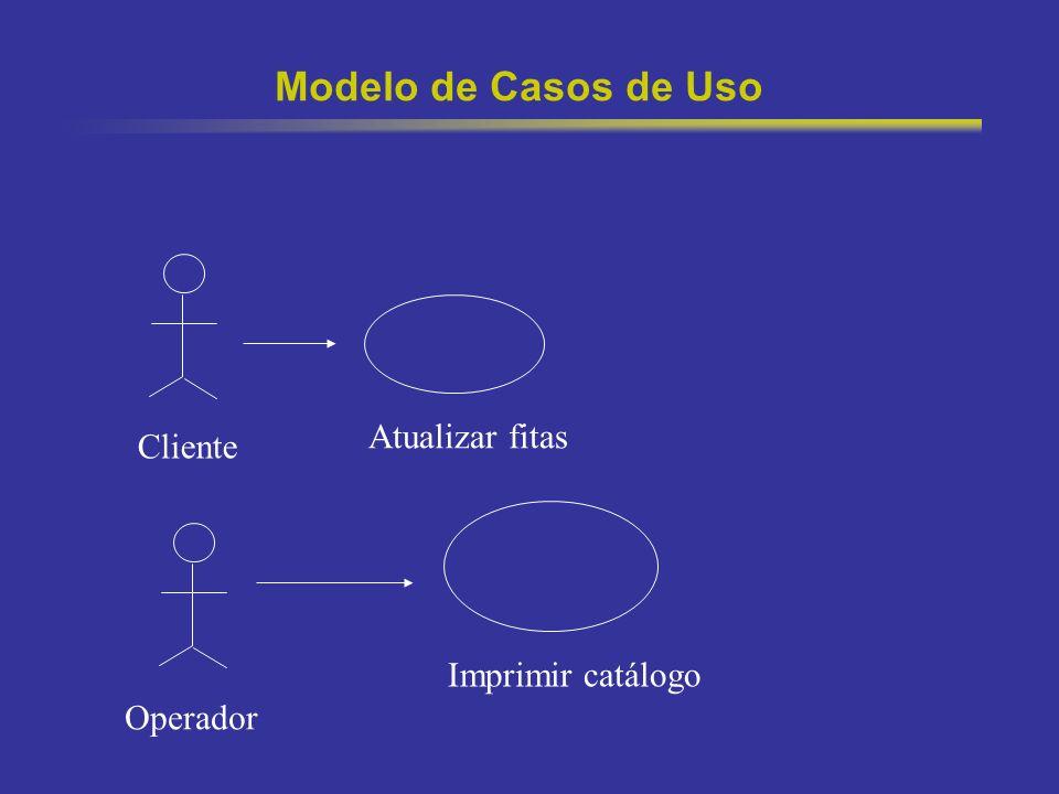 3 Modelo de Casos de Uso Cliente Atualizar fitas Operador Imprimir catálogo