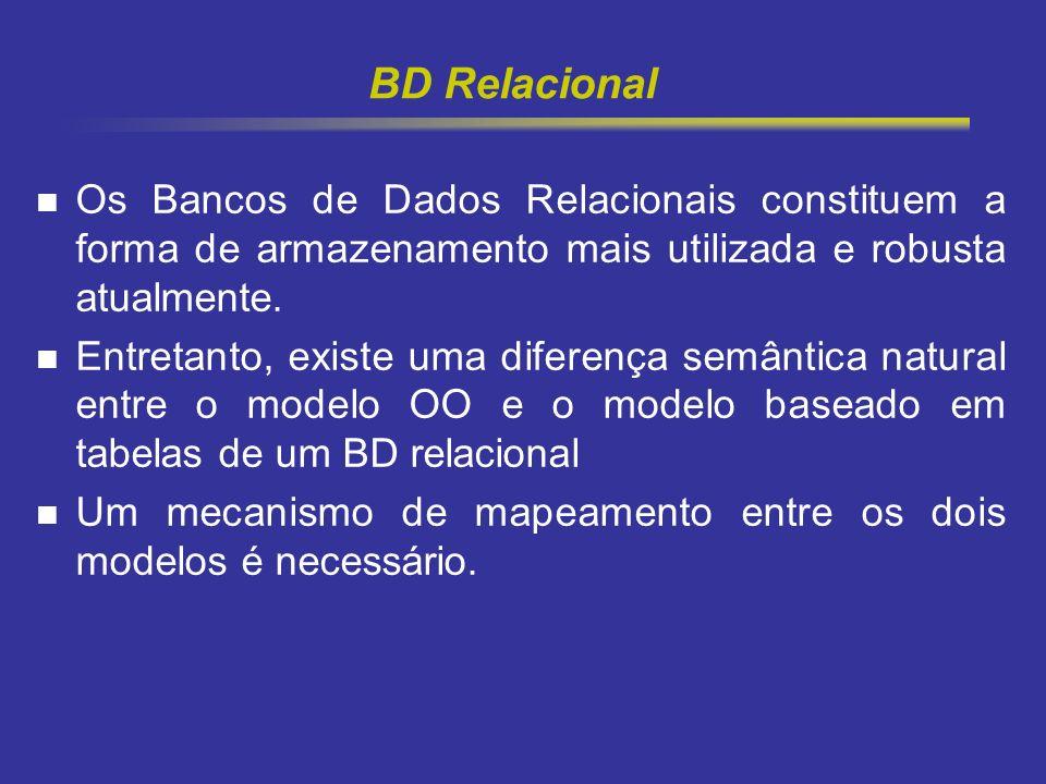 12 BD Relacional Os Bancos de Dados Relacionais constituem a forma de armazenamento mais utilizada e robusta atualmente. Entretanto, existe uma difere