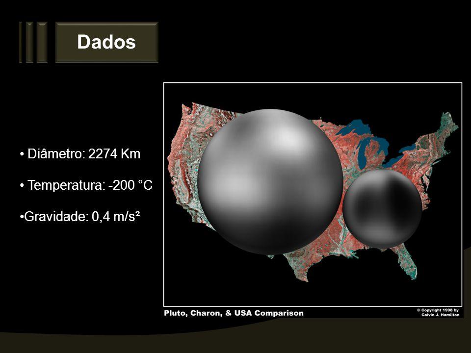 Dados Diâmetro: 2274 Km Temperatura: -200 °C Gravidade: 0,4 m/s²