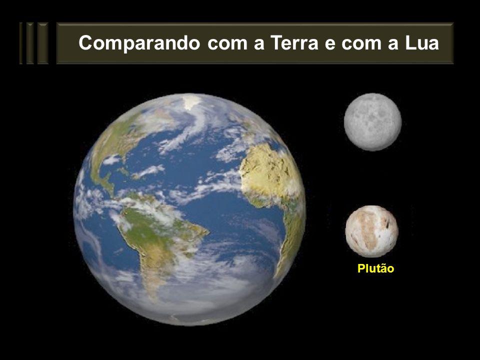 Comparando com a Terra e com a Lua Plutão