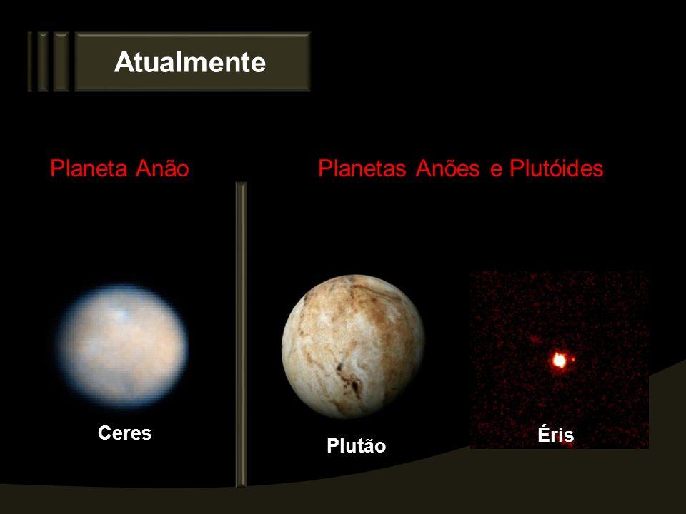 Atualmente Ceres Plutão Éris Planeta AnãoPlanetas Anões e Plutóides