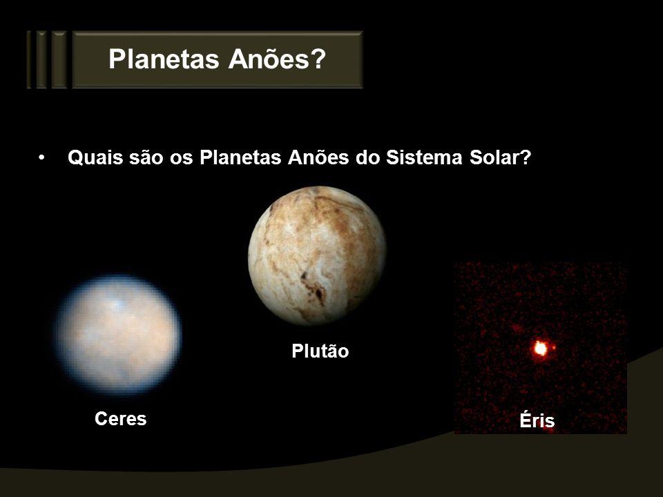 Planetas Anões? Quais são os Planetas Anões do Sistema Solar? Ceres Plutão Éris