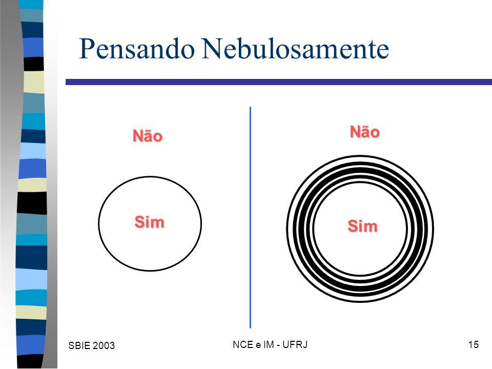 SBIE 2003 NCE e IM - UFRJ 15 Pensando Nebulosamente Sim Não Não Sim
