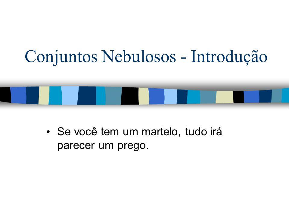 Conjuntos Nebulosos - Introdução Se você tem um martelo, tudo irá parecer um prego.