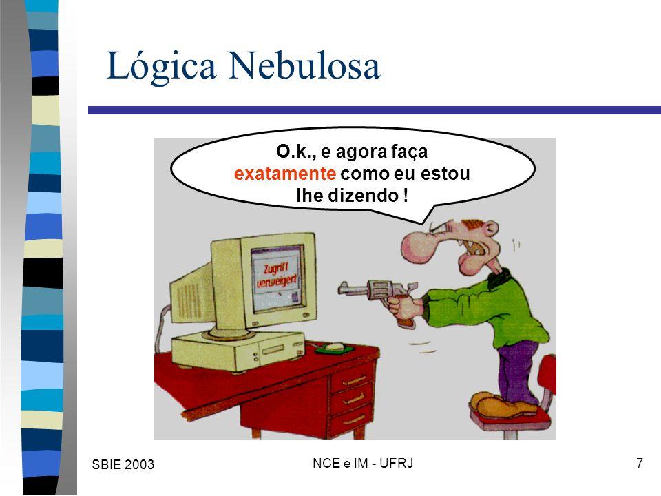 SBIE 2003 NCE e IM - UFRJ 38 Não é probabilidade.