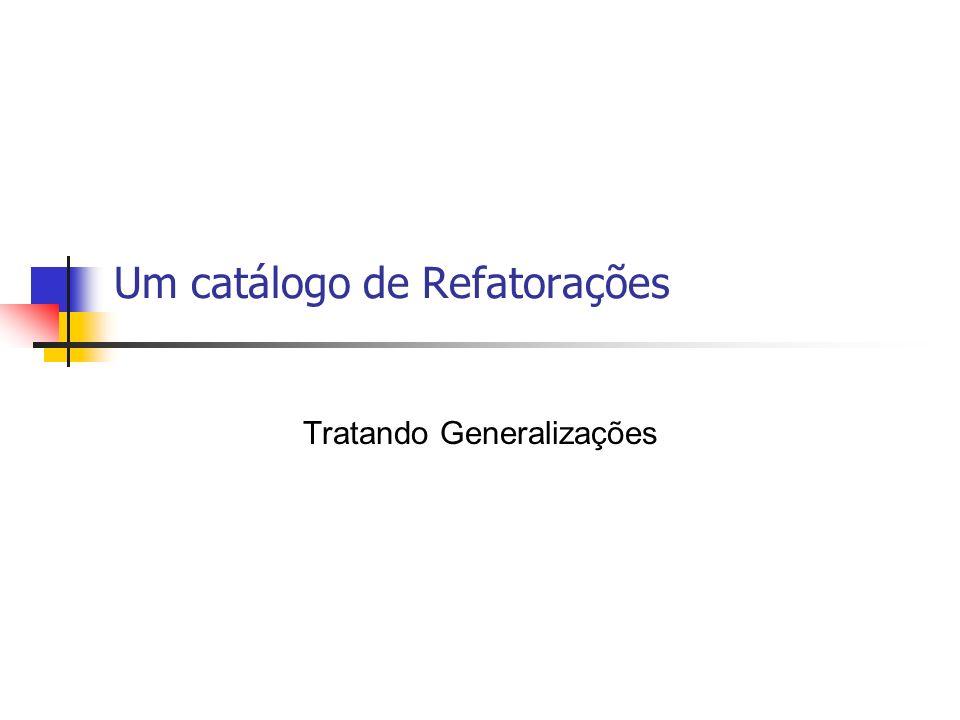 Um catálogo de Refatorações Tratando Generalizações
