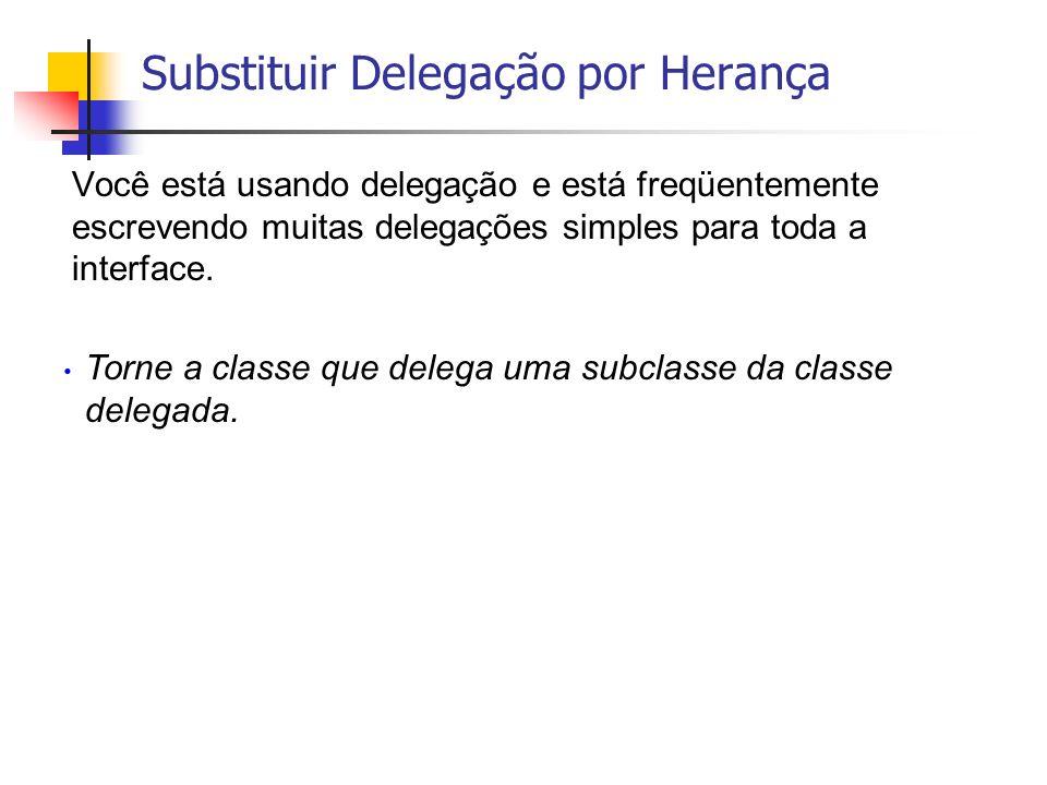 Você está usando delegação e está freqüentemente escrevendo muitas delegações simples para toda a interface. Torne a classe que delega uma subclasse d