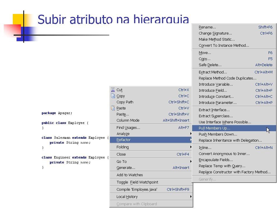 Uma subclasse usa apenas parte da interface de uma superclasse ou não quer herdar dados.