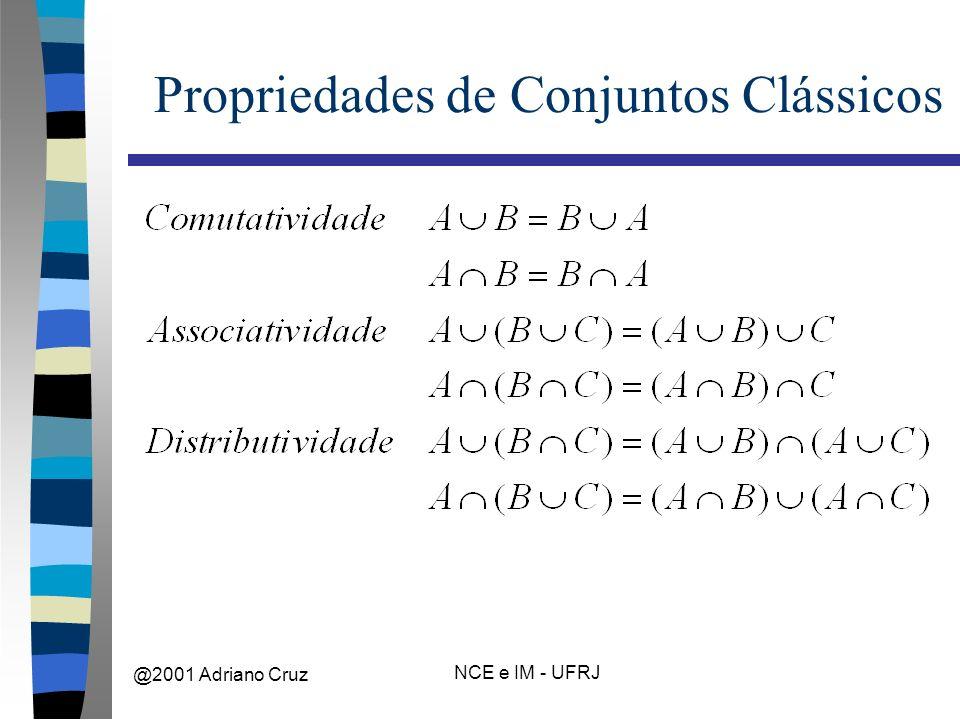 @2001 Adriano Cruz NCE e IM - UFRJ Propriedades de Conjuntos Clássicos