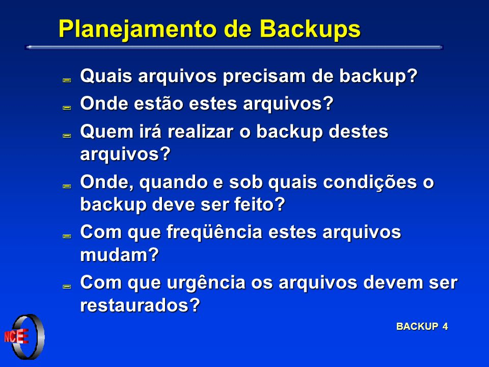 BACKUP 25 Restaurando Arquivos (restore) restore> extract You have not read any volumes yet.