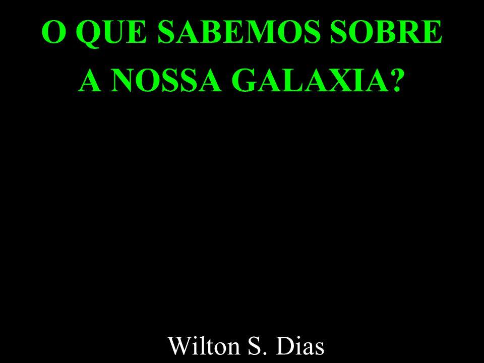 O QUE SABEMOS SOBRE A NOSSA GALAXIA? Wilton S. Dias