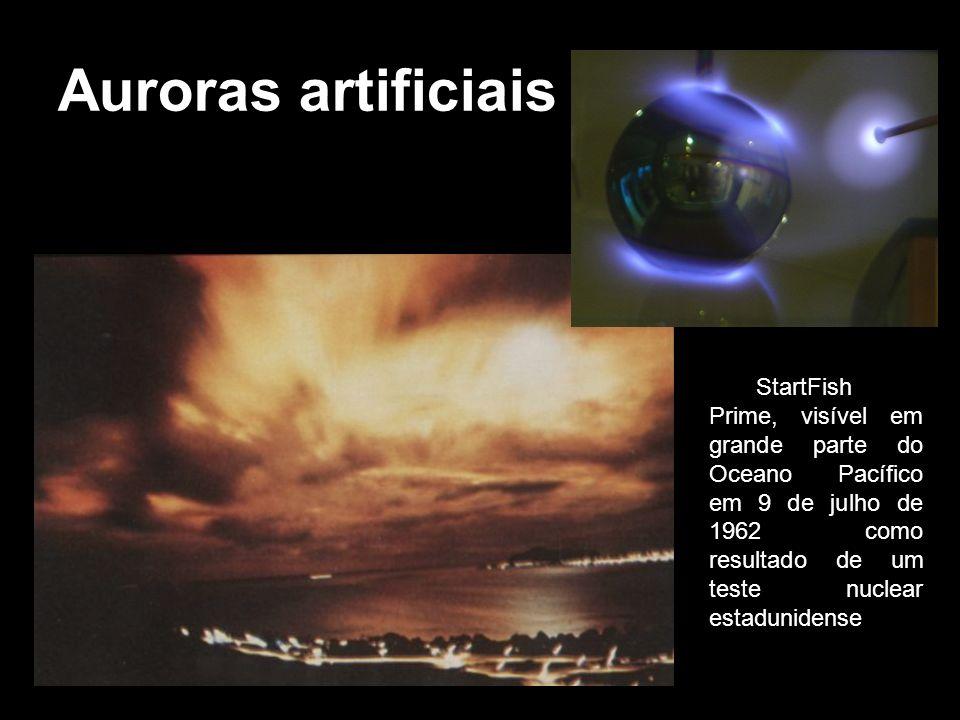 Auroras artificiais StartFish Prime, visível em grande parte do Oceano Pacífico em 9 de julho de 1962 como resultado de um teste nuclear estadunidense