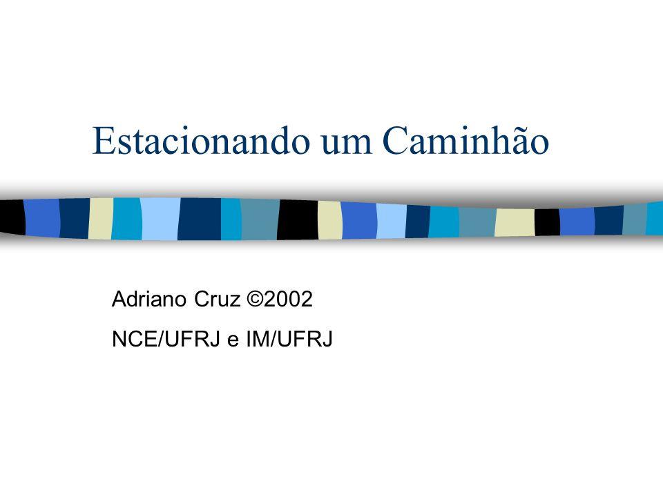 @2001 Adriano Cruz NCE e IM - UFRJ Diagrama do problema Ponto Final(x f, y f ) x,y 0 <= x,y <= 100 -90 <= <= 270 -30 <= <= 30