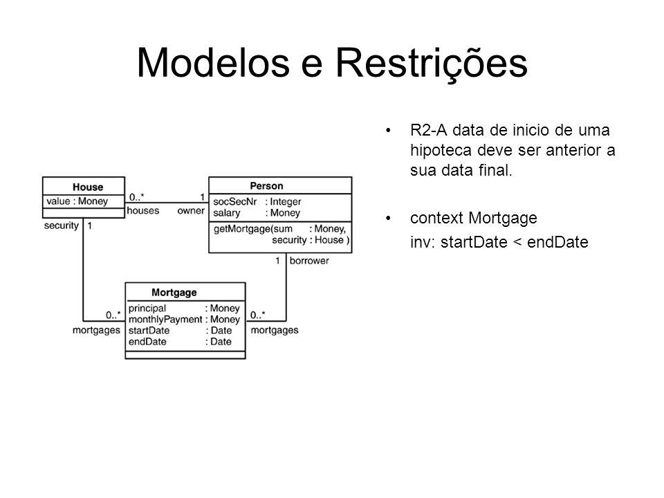 Referências [1] Warmer, J., Kleppe, A.: The Object Constraint Language.