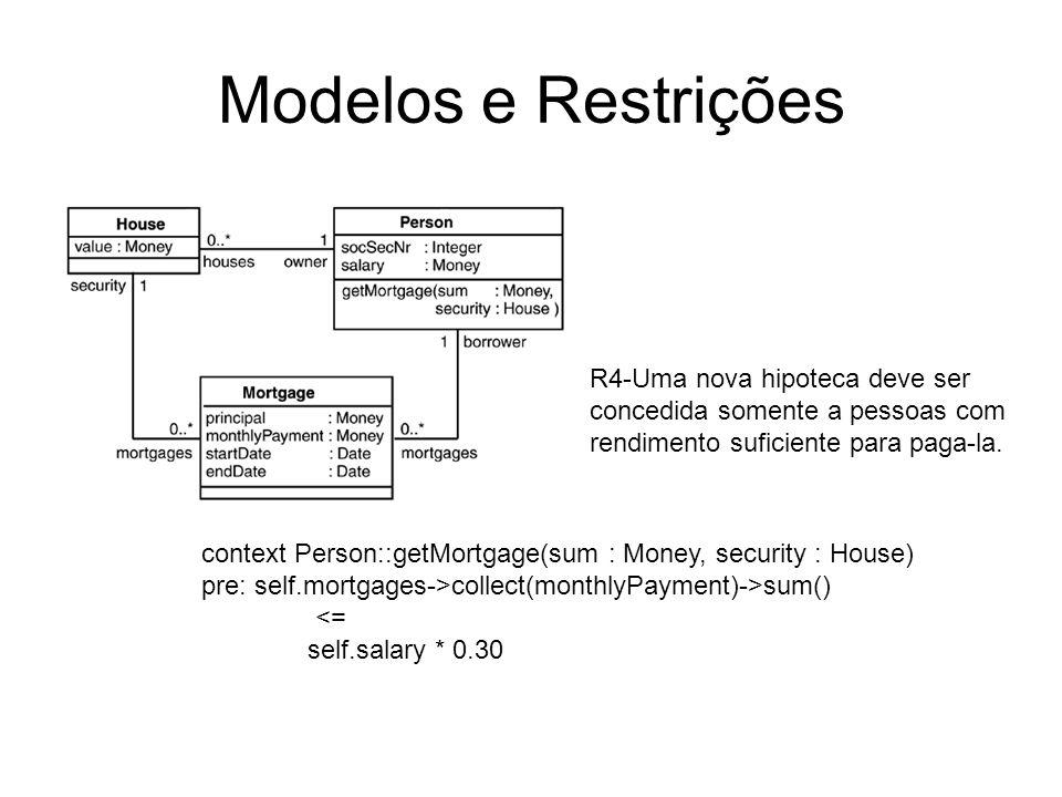 Consulta parametrizada context LoyaltyProgram operations getServices(pp: ProgramPartner) : Set(Service)= if partners->includes(pp) then pp.deliveredServices else Set{} endif.
