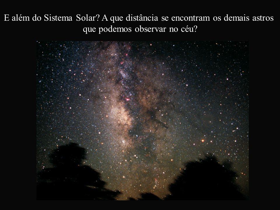 E além do Sistema Solar? A que distância se encontram os demais astros que podemos observar no céu?