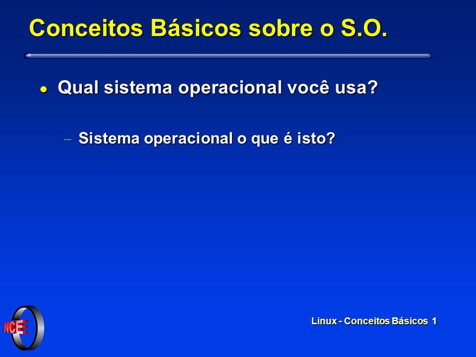 Linux - Conceitos Básicos 1 Conceitos Básicos sobre o S.O.