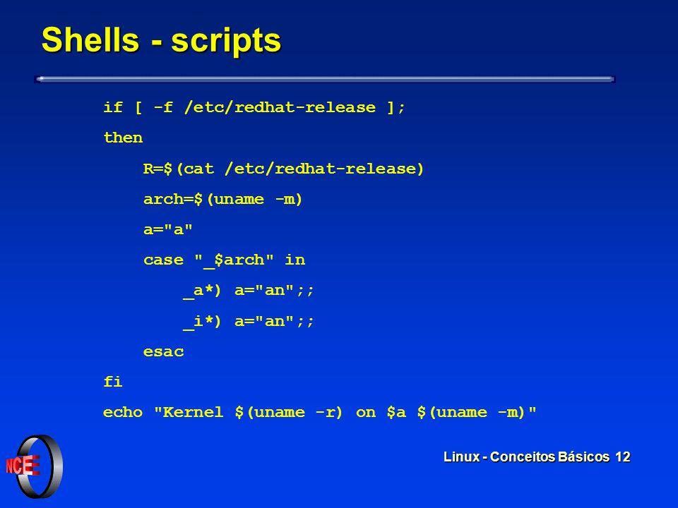 Linux - Conceitos Básicos 11 Shells - comandos Usuário digita o comando ls em um terminal Usuário digita o comando ls em um terminal Shell procura ond