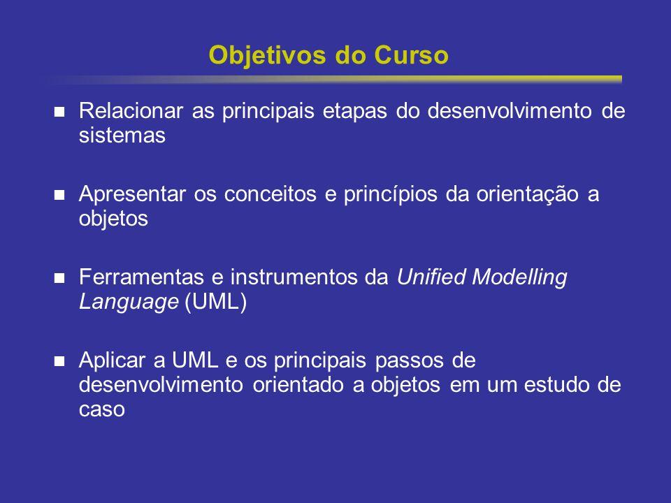 3 Objetivos do Curso Relacionar as principais etapas do desenvolvimento de sistemas Apresentar os conceitos e princípios da orientação a objetos Ferra