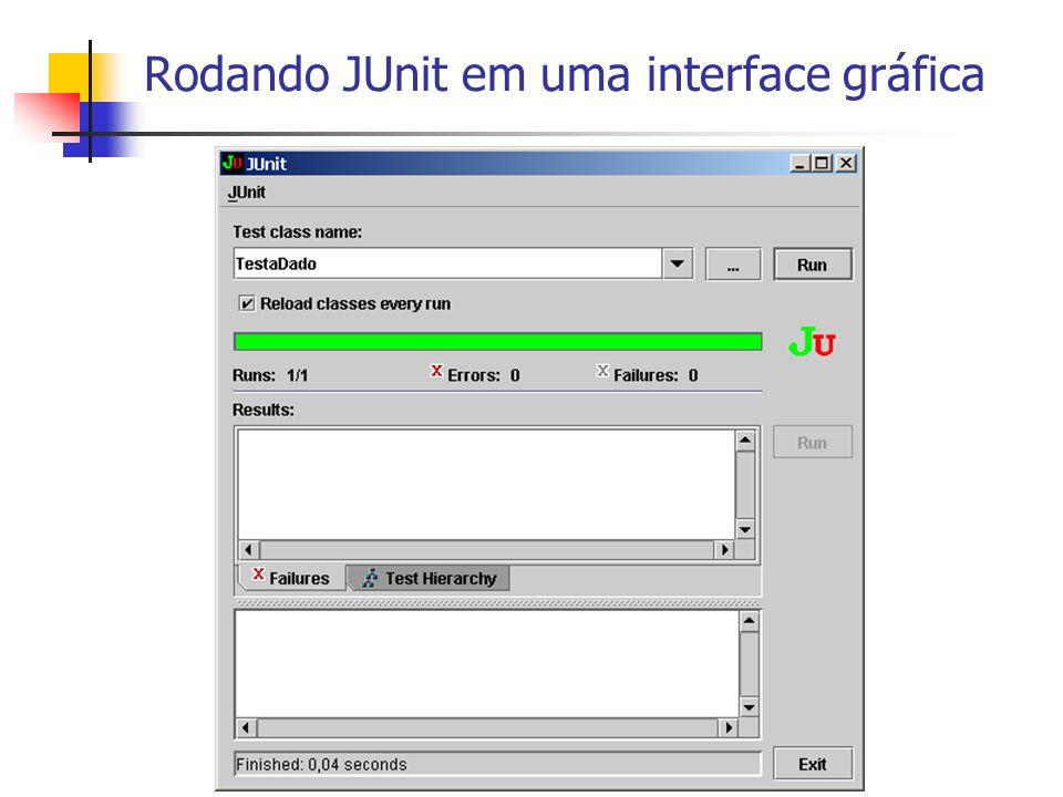 Rodando JUnit em uma interface gráfica