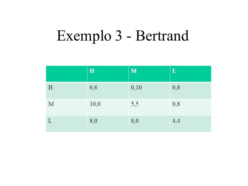 Exemplo 4-Batalha dos sexos H\WBoxBallet Box3,10,0 Ballet0,01,3