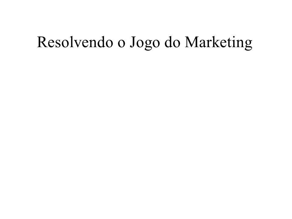 Resolvendo o Jogo do Marketing