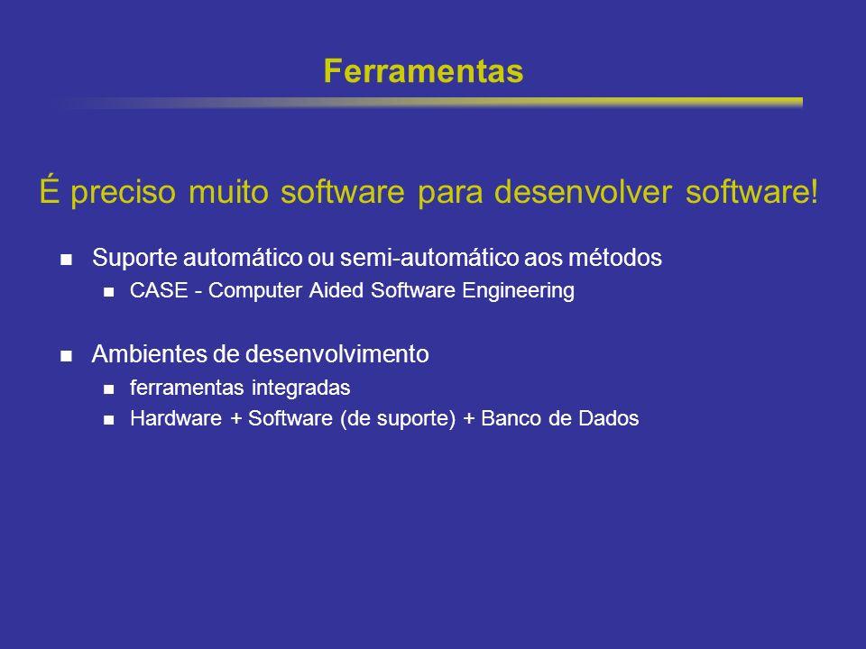 22 Ferramentas Suporte automático ou semi-automático aos métodos CASE - Computer Aided Software Engineering Ambientes de desenvolvimento ferramentas i