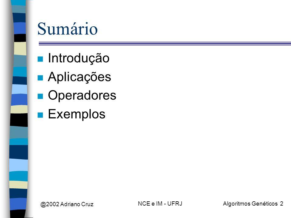 @2002 Adriano Cruz NCE e IM - UFRJAlgoritmos Genéticos 33 Punições x Prêmios