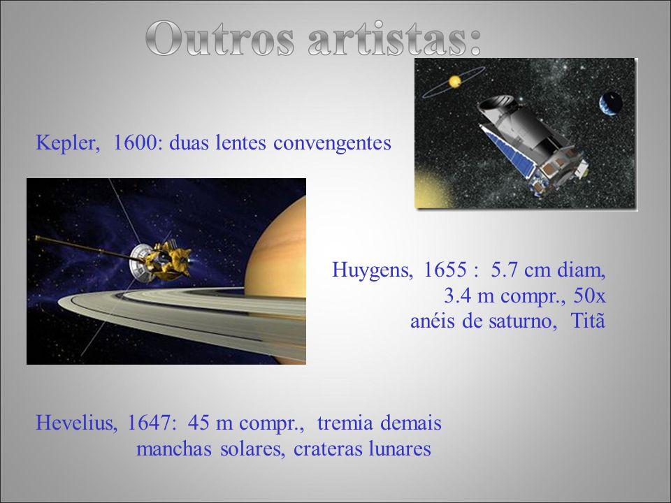 Newton 1643 - 1727 Preocupado com as aberrações produzidas pelas lentes 3 cm diam., 16 cm de compr.