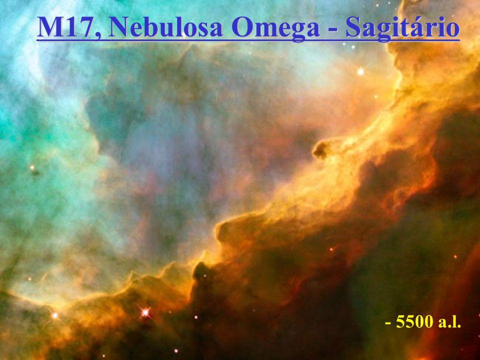 M17, Nebulosa Omega - Sagitário - 5500 a.l.