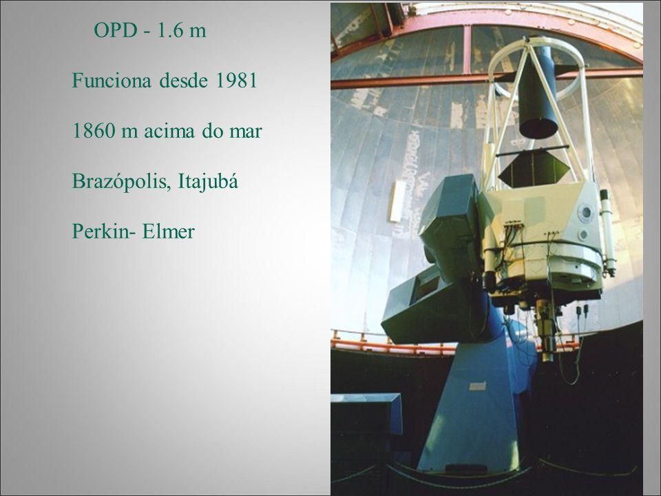 OPD - 1.6 m Funciona desde 1981 1860 m acima do mar Brazópolis, Itajubá Perkin- Elmer