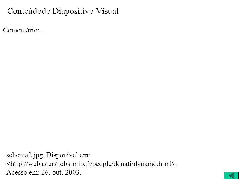 Conteúdodo Diapositivo Visual Comentário:... schema2.jpg. Disponível em:. Acesso em: 26. out. 2003.