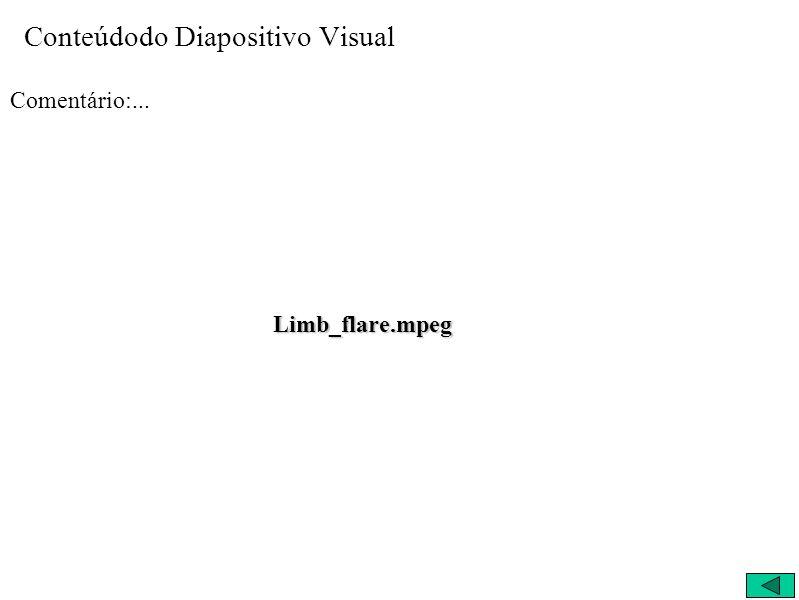 Conteúdodo Diapositivo Visual Comentário:... Limb_flare.mpeg