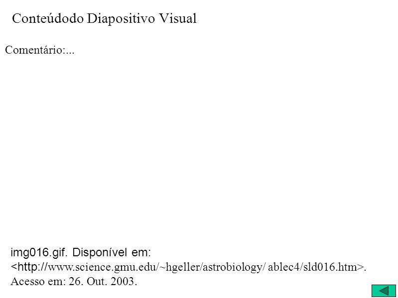 Conteúdodo Diapositivo Visual Comentário:... img016.gif. Disponível em:. Acesso em: 26. Out. 2003.