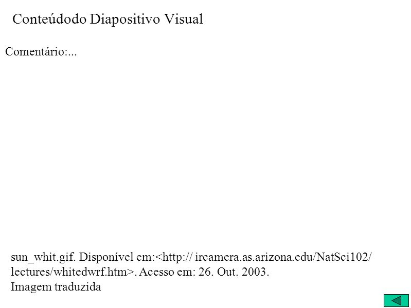 Conteúdodo Diapositivo Visual Comentário:... sun_whit.gif.