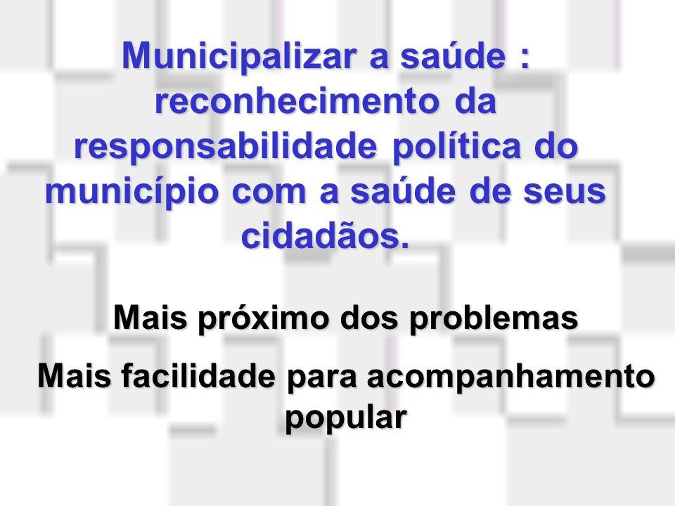 Princípios Organizacionais do SUS Regionalização e Hierarquização Serviços organizados em níveis de complexidade e dispostos em área definida, com pop